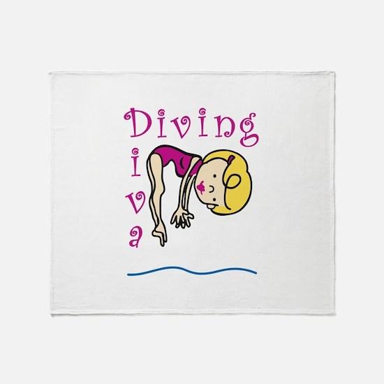 Diving Diva Throw Blanket