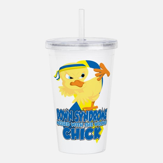 Down Syndrome Messed W Acrylic Double-wall Tumbler