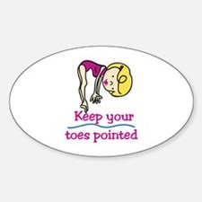 Point Toes Decal