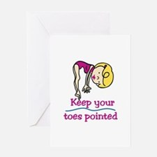 Point Toes Greeting Cards