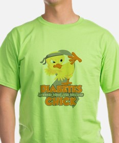 Diabetes Messed With The Wrong Chick T-Shirt
