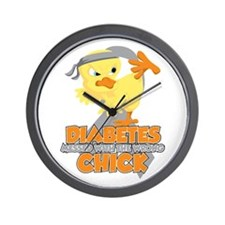 Diabetes Messed With The Wrong Chick Wall Clock