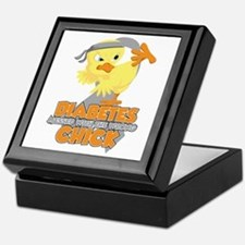 Diabetes Messed With The Wrong Chick Keepsake Box