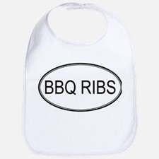 BBQ RIBS (oval) Bib