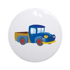 Toy Pickup Truck Ornament (Round)