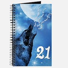 Unique Winter wolf Journal