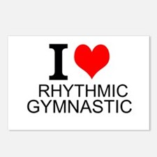 I Love Rhythmic Gymnastics Postcards (Package of 8