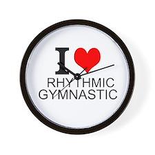 I Love Rhythmic Gymnastics Wall Clock
