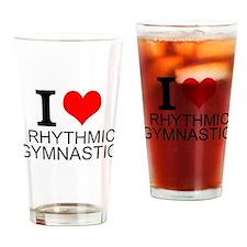 I Love Rhythmic Gymnastics Drinking Glass