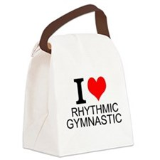I Love Rhythmic Gymnastics Canvas Lunch Bag