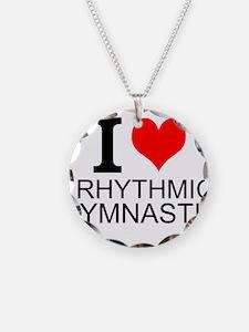 I Love Rhythmic Gymnastics Necklace