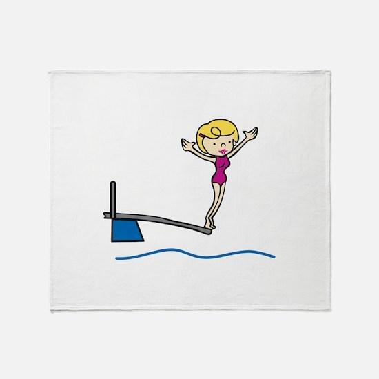 Springboard Woman Throw Blanket