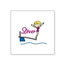 Diver Woman Sticker