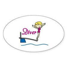 Diver Woman Decal