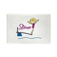 Diver Woman Magnets