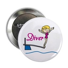 "Diver Woman 2.25"" Button"