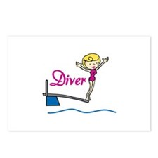 Diver Woman Postcards (Package of 8)