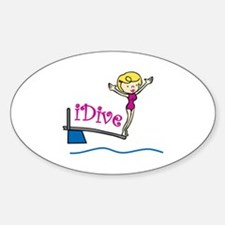 iDive Woman Decal