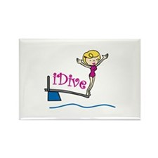 iDive Woman Magnets
