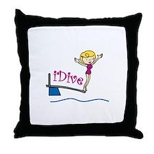 iDive Woman Throw Pillow