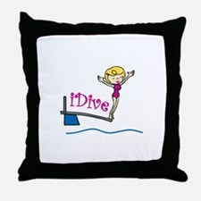 iDive Woman Throw Pillow
