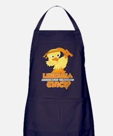 Leukemia Messed With The Wrong Chick Apron (dark)