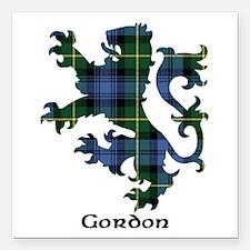 "Lion - Gordon Square Car Magnet 3"" x 3"""