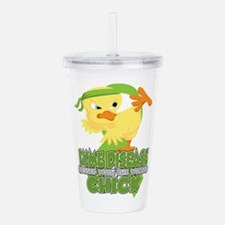 Lyme Disease Messed Wi Acrylic Double-wall Tumbler
