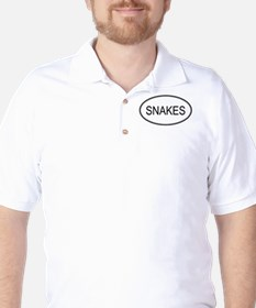 SNAKES (oval) T-Shirt