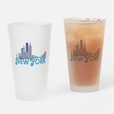 Funny Midtown Drinking Glass