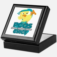 PCOS Messed With The Wrong Chick Keepsake Box
