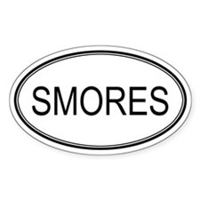 SMORES (oval) Oval Decal