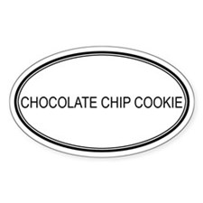 CHOCOLATE CHIP COOKIE (oval) Oval Decal