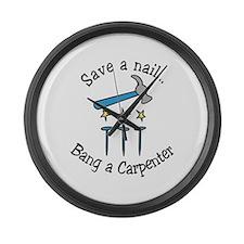 Save A Nail Large Wall Clock