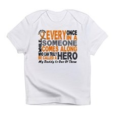 Cute My daddy my hero Infant T-Shirt