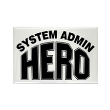 System Admin Hero Rectangle Magnet