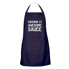 Ketchup is awesome sauce Apron (dark)
