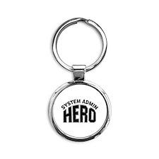 System Admin Hero Round Keychain