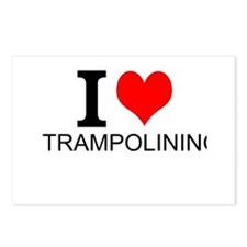 I Love Trampolining Postcards (Package of 8)