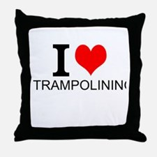 I Love Trampolining Throw Pillow
