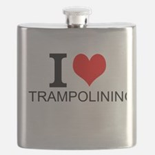I Love Trampolining Flask