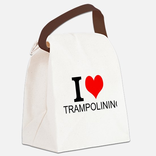 I Love Trampolining Canvas Lunch Bag