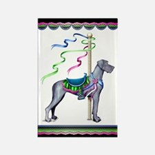 Great Dane Blue UC Carousel Rectangle Magnet