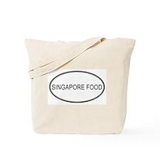 SINGAPORE FOOD (oval) Tote Bag