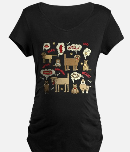 What Dogs Think Maternity T-Shirt