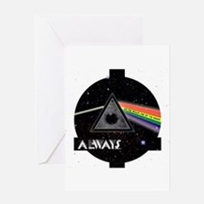 Bright side of the Moon Greeting Cards