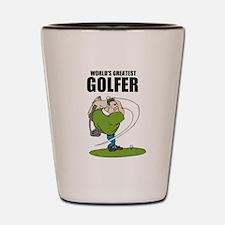 World's Greatest Golfer Shot Glass