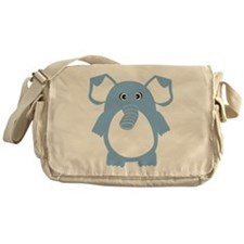 Cute Pretty elephant Messenger Bag