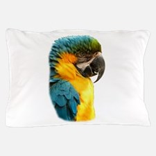 Unique Blue and gold macaw Pillow Case