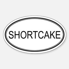 SHORTCAKE (oval) Oval Decal